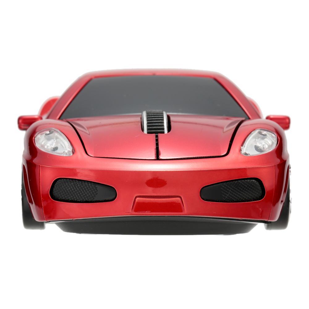 法拉利汽车鼠标 2.4G无线鼠标 1000DPI  红色
