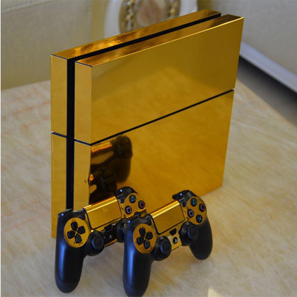 PS4游戏机主机保护贴纸手柄保护贴纸 款式9 XYA0638金色 1套