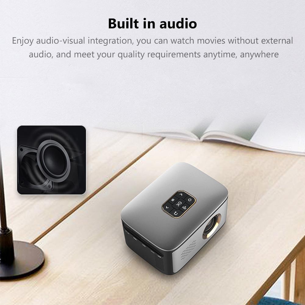 SD40 投影仪 480*320分辨率 500流明 支持HD/USB 家用小型会议室使用 便携式投影仪 遥控器不带电池出货 欧规